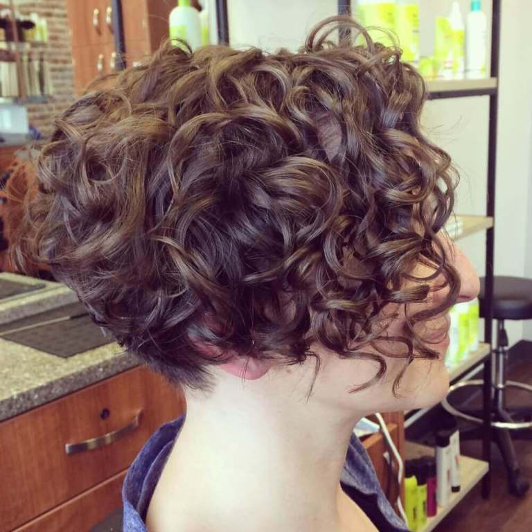 Curly Bob with Nape Undercut