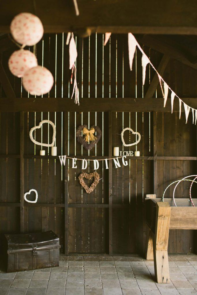 Heart decors for wedding